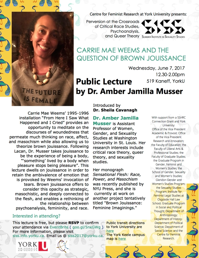 SISS Musser lecture poster